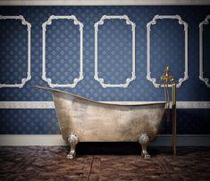 Single Slipper Bathtub on Claw Feet, Smooth Exterior & Interior, Finish Copper Antique Exterior & Nickel Interior Copper Tub, Copper Bathroom, Pure Copper, Clawfoot Bathtub, Antiques, Interior, Slipper, Smooth, Home