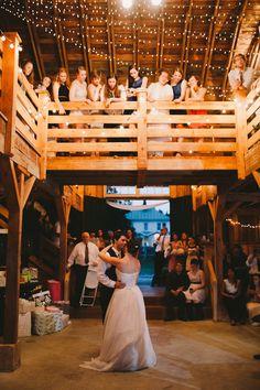 first dance, barn wedding
