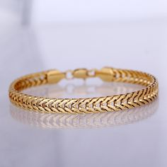 Gold Chains For Men Men's Gold Plated Curb Bracelet Mens Gold Bracelets, Mens Gold Jewelry, Clean Gold Jewelry, Black Gold Jewelry, Mens Silver Rings, Gold Plated Bracelets, Gold Bangles, Beaded Jewelry, Gold Ring Designs