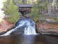Lower Falls footbridge, Amnicon Falls State Park, Superior.