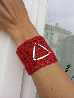 Braccialetto in lurex rosso