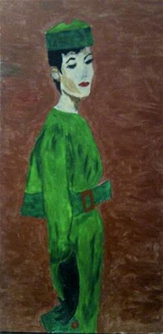 """""""Elegance in Emerald"""" - Original Fine Art for Sale - ©Sonia Rumzi"""