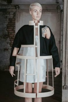 Conceptual Fashion - sculptural deconstructed jacket exploring negative space; dramatic 3D fashion // ICE by Charlotte Ham                                                                                                                                                      More