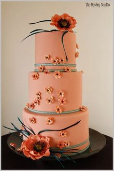 Indian Weddings Inspirations. Orange Wedding Cake. Repinned by #indianweddingsmag indianweddingsmag.com #weddingcake