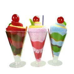 Toallitas para limpiarse con forma de copa de helado
