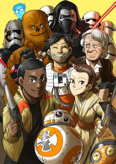Poe Dameron, Finn, Rey & the Gang from Star Wars Episode VII The Force Awakens by Jeetdoh on DeviantArt