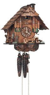 Relógio de Cuco<br>Casa da Floresta Negra com lenhador que se move