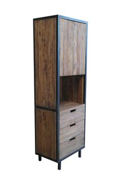 Design schrank metall  Sit-Möbel, Telefon-Tisch-Kommode, Teak+Metall, Cross, 11156-23 ...