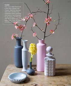 Painted Spring Vases
