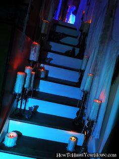 PVC candles on the stairs  Lynne Mitchell