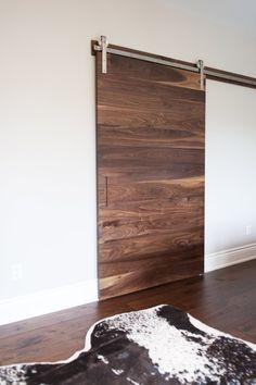 Walnut barn doors -