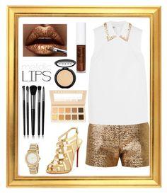 """Metallic Lips: Contest Entry"" by haybeebaby on Polyvore featuring beauty, Lanvin, Miu Miu, Christian Louboutin, DKNY, Obsessive Compulsive Cosmetics, Illamasqua, LORAC and metalliclips"
