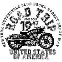 Estampa para camiseta Carros/Motos 002912