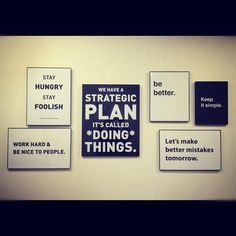 We have a strategic plan. . . it's called doing things!  LOVE it!