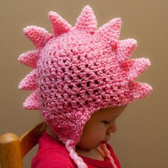 Dragon Hat Crochet Pattern (PDF, with Permission to Sell Finished Items) | brookeslittlestitch, on Etsy.