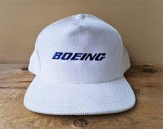 432ff02bfa74f Vintage BOEING Corduroy Snapback Hat White Full Back Baseball Cap Aircraft  Manufacturer Embroidered Ballcap Ram Action Headwear Yupoong