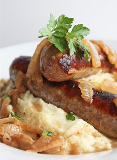 Bangers and Mash (Low Carb and Gluten Free)   I Breathe I'm Hungry