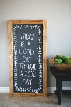 A good sign to  hang by the door, so every morning when the kids leave for school they can read it!