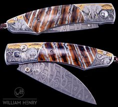 "Spearpoint ""Africa"" engraved by Aleksey Saburov with 24K gold & copper inlays."