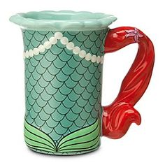 Disney Ariel Mug | Disney StoreAriel Mug - Your day will begin swimmingly when it starts with drinking from this Ariel Mug. The fairytale wonder of The Little Mermaid is captured in relief in this ceramic cup that incorporates elements of the story in its design.