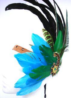 ARIEL Feather Headband - boho ibiza rave EDM festival tribal burning man party costume fairy larp