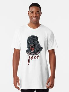 "The ""my on-court face"" design is the perfect gift for tennis players and tennis fans, women and men who love their sport and hobby. It shows an angry Gorilla face and writes ""my on court face"". This tennis based design is also a perfect present for moms, dads and coaches. BTNNS tennis court, tennis balls, happy tennis, funny tennis face, tennis based design, boys tennis, cute tennis, funny tennis gift, funny tennis design, funny tennis shirt, love tennis, mens tennis gift, tennis, tennis…"