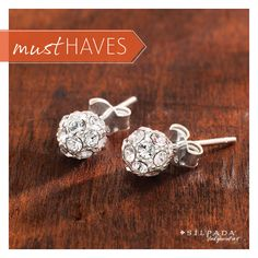 Stylish studs at the right price.   #Silpada To order go to http://www.mysilpada.com/louise.larsen