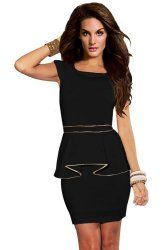 How to dress to look thinner - in a peplum dress