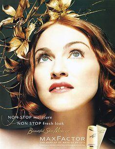 Publicité Vintage - Max Factor - Madonna - 1999