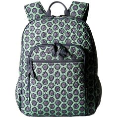 Vera Bradley Campus Backpack (Nomadic Blossoms) Backpack Bags ($109) ❤ liked on Polyvore featuring bags, backpacks, pattern backpack, blue backpack, vera bradley, multi color backpack and flower backpack