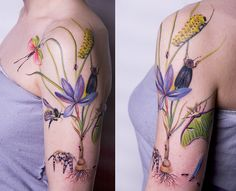 Flower still life tattoo AMANDA WACHOB