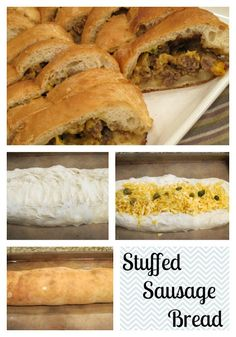 Stuffed Sausage Bread-One of the easiest appetizers ever or great for a meal too!