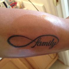 Infinity family tattoo; thanks to Exposed Temptations in Manassas, VA