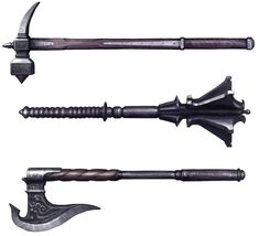 Assassin's Creed II Art & Pictures  Hammer, Mace, & Axe