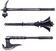 Hammer, Mace, & Axe