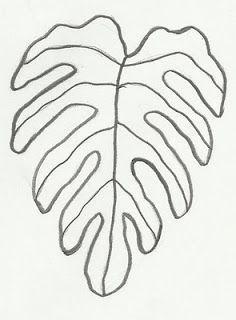 Desenhos para Imprimir e Pintar, Desenhos Grátis: Desenho de folha para imprimir e colorir Leaf Template, Flower Template, Templates, Stencils, Paper Art, Paper Crafts, Safari Decorations, Hawaiian Quilts, Paper Leaves
