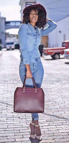 Vístete Moda Vestidos Y Accesorios - Comunidade - Google+ Double Denim 97736fe3f21a