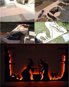 Halloween Garage Door Silhouette   Halloween Decorations ...