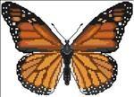 Monarch Butterfly FREE cross stitch chart