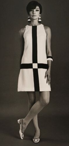 Mod Fashion of the 1960's...crazy about this look …I wore a dress and hair just like this.