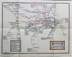 How map-master Max Gill became the saviour of the London Underground: Max Gill's London Underground System map, 1922, pre-dating Harry Beck's design.