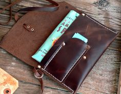 Leather Pouch Tobacco Pipe pouch simple wristlet by FeralEmpire also room for MXS lighter