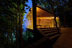 Built by Bernardes Arquitetura in Rio de Janeiro, Brazil with date 2014. Images by Tuca Reinés. The sitingof the Chapel was defined by the irregular topography of the land and the search fora quiet place without...