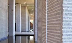 French architect François Fontès, inspired by the natural materials of the Mediterranean, turned to Plo's Tarn Silverstar granite to realise his project for the Marc Bloch secondary school in Sérignan which opened in September 2013.  Plo: Pillar of Wisdom | News | Architectural Review