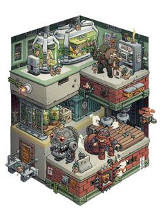 What frightning creatures are made in the Cloning Facility? Fight them in MERCENARY KINGS!
