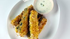 Crispy Zucchini Fries with Tangy Dip
