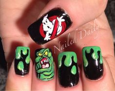 Ghostbusters Nails! Ummm I totally almost poohed in my pants.. these are by far the coolest effing nails ever