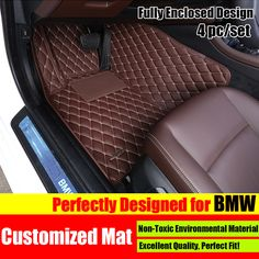 Black Interior Leather Floor Mats & Carpets Foot Pads Protector For Porsche Cayenne 2006-2010 Floor Mats