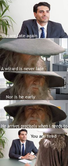 Real life is not like middle-earth
