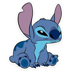 """""""Stitch"""" stickers by kbeestrickland Lilo And Stitch Memes, Lilo And Stitch Characters, Lilo E Stitch, Cute Stitch, Stitch Cartoon, Drawing Cartoon Characters, Cartoon Drawings, Cute Drawings, Disney Stitch"""
